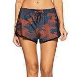 Festieano Camouflage Hexagonal Digital Technology Girl Swim Trunks Gym Shorts Floral Printed Womens Shorts