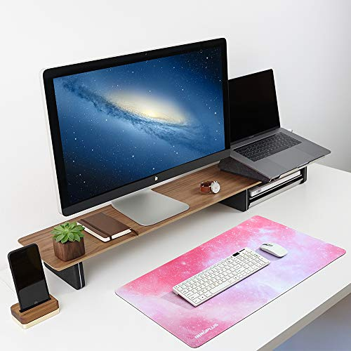 Gaming Mouse Pad, Large Mouse Pad XL Pink, Mouse Pads for Computers 31.5×15.75In, Large Extended Gaming Keyboard Mouse Pads, Big Desk Mouse Mat Designed for Gaming Surface/Office, Durable Edges Photo #5
