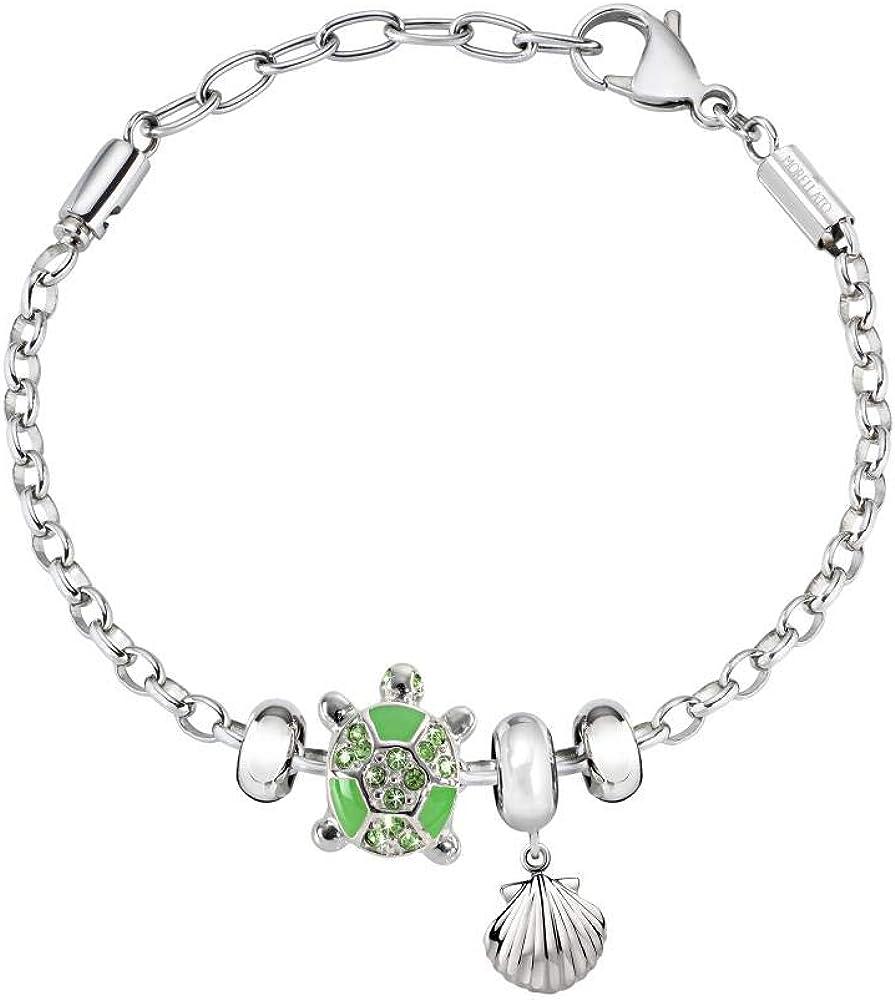 Morellato, bracciale da donna, collezione drops, in acciaio e pietra preziosa SCZ1102