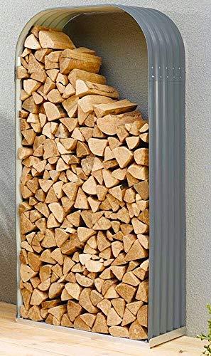 Vitavia Kaminholzregal Ardor 401, hoch, Granit Kaminholzunterstand Bausatz Zincalume®