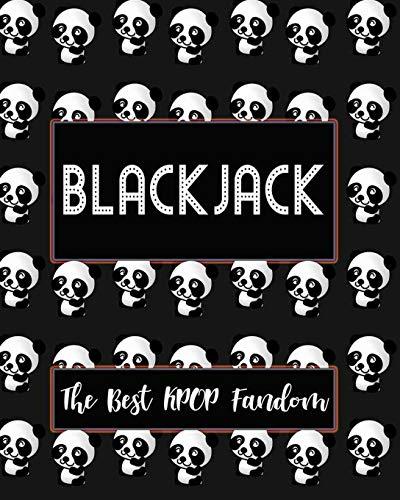 "BLACKJACK The Best KPOP Fandom: Best KPOP Gift Fans Cute Panda Monthly Planner 8""x10"" Book 110 Pages Book"