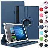 UC-Express Tablet Schutzhülle kompatibel für Archos 70 Xenon - Oxygen Tasche aus hochwertigem Kunstleder Hülle Standfunktion 360° Drehbar Cover Universal Case, Farben:Blau