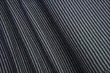 mollipolli-Stoffe Bündchen glatt gestreift schwarz grau