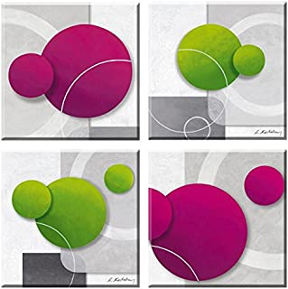 Elegant Arts & Frames Set of 4 Stretched Canvas Art 8 x 8