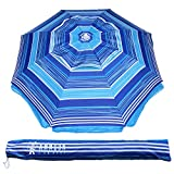 AMMSUN 2m Outdoor Patio Beach Umbrella Sun Shelter with Tilt Air Vent Carry