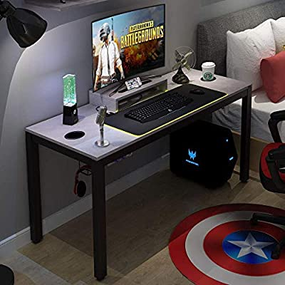 """Need Gaming Desk All-in-one Gaming Computer Desk with RGB LED Soft Gaming Mouse Pad 60"""" Length for Big Guys AC14LB-Pro Visit The Need Store by Hebei Need Home Furnishing Supplies Co.,Ltd"""