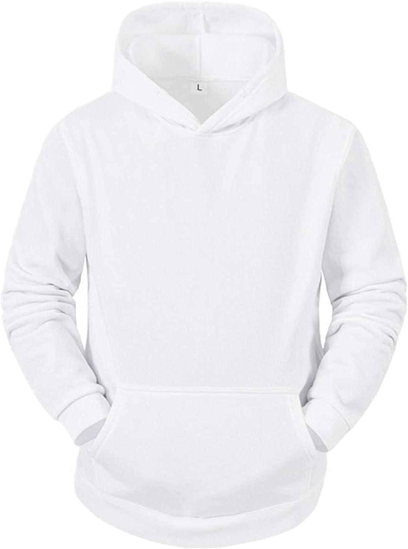 Men's Hoodies Pullover, Men's Hipster Hip Hop Hoodie Solid Color Soft Hoody Casual Long Sleeve Warm Sweatshirts Pockets