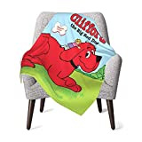 Clifford The Big Red Dog Baby Blanket Boys Soft Blanket Fleece Baby Girl Blanket Plush Toddler Baby Newborn Blanket for Nursery Stroller Crib Receiving Blanket Infant Unisex-Baby,One Size