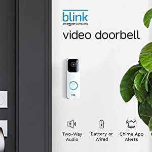 Introducing Blink Video Doorbell | Two-way audio, HD video, motion and chime app alerts, and Alexa enabled — wired or wire-free (White)