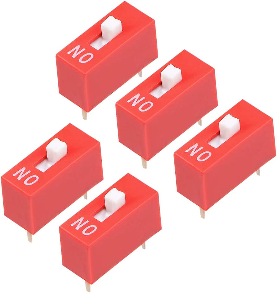 uxcell 35% OFF 5 Pcs Red DIP Switch 1Positions Free shipping anywhere in the nation P for Breadboards Circuit