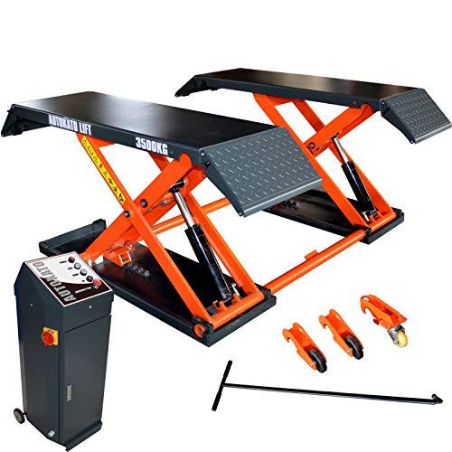 KATOOL AUTOKATO Mid Rise Scissor Lift 8000 lbs Movable Auto Lift Garage Equipment Electric Safety Release 220V/1PH/60HZ