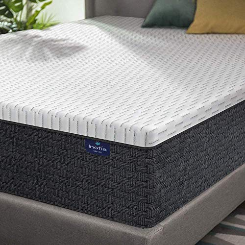 Queen Mattress, Inofia 12 Inch High Resilience Foam Mattress Bed in a Box, More Breathable & Supportive Than Memory Foam, Pressure Relief & Cooler Sleeping, Medium Firm Feel, 100-Night Trial