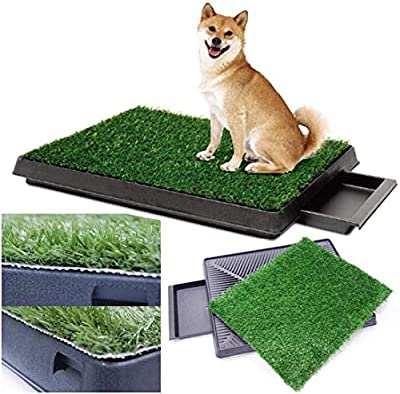Sailnovo Dog Toilet Puppy Toilet with Artificial Grass 63 x 50 cm Dog Toilet Puppy Toilet Training Mat for Small Older Dogs (A1) by Sailnovo