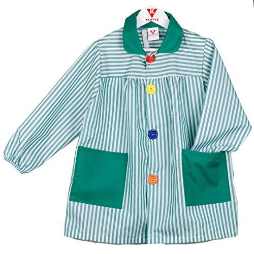 KLOTTZ - BABI Rayas Bata Escolar Niños Color: Verde Talla: 5