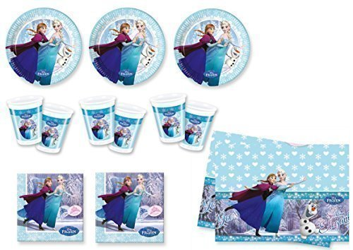 Frozen Ice Skating - Partyset (24 platos, 24 vasos, 40 servilletas, 1...