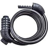 ULMAX JAPAN セキュリティワイヤーロック ダイヤルロック錠 ブラケット付 シートポスト用 ブラック