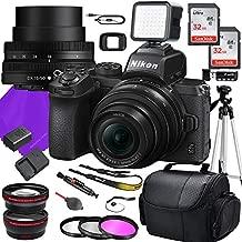 Nikon Z50 DX Mirrorless Camera with NIKKOR Z DX 16-50mm f/3.5-6.3 VR Lens + 64GB Memory + Tripod + Accessory Bundle (22 Total Pieces)