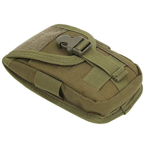 Bolsa de teléfono para exteriores de gran capacidad, tela Oxford 600D de alta calidad, utilizada como riñonera, bolsa de senderismo o bolsa de viaje(Army Green)