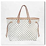 The Oliver Gal Artist Co. Fashion and Glam Wall Art Canvas Prints 'Royal Handbag Ivory' Home Décor, 43' x 43', White, Brown