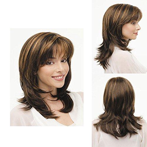 ahom (perruque Noble femelle européenne perruque longue cheveux bouclés Perruques Frange Pear tête Air Haute Température fil Fashion perruque Perruques