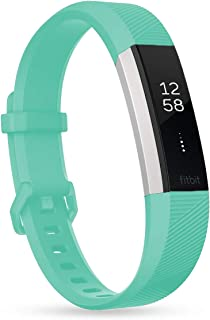 HSWAI for Fitbit Alta/Fitbit Alta HR 交換ベルト TPU材 サイズ調整可能 穴留め式 男女兼用なバンド