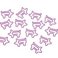 Songowe ゼムクリップ ペーパークリップ クリップ 文房具 装飾ペーパークリップ 動物形 かわいい 学校 10ピース