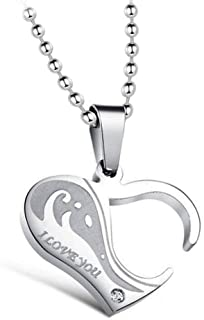Uloveido له و Hers أحبك القلب لغز القلائد للرجال والنساء مطابقة المجوهرات SN922