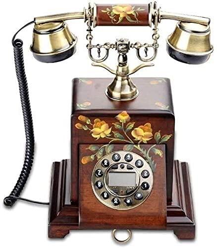 TAIDENG Adornos de telefonía Decorativos Regalo para decoración para el hogar Estilo Europeo, [Retro], teléfono Antiguo, transmisión, Cable - Un Adorno de decoración de Escritorio para el hogar