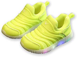 Unparalleled beauty LED Light up Shoes Kids Boys Girls Breathable Slip-on Flashing Sneakers