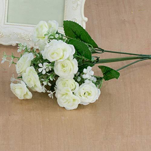 ypypiaol 1 Ramo De Flores Con 15 Cabezas Con Decoraciones Artificiales