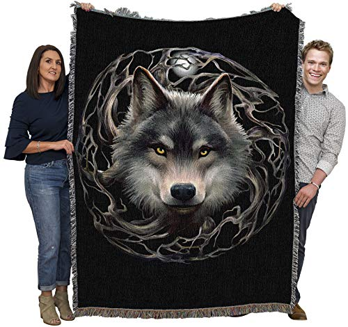Night Forest - Anne Stokes Gothic Collection - Cotton Woven Blanket Throw - Made in The USA (72x54)