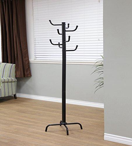 Frenchi Home Furnishing Modern Style Black Finish Metal Eight Hook Coat Rack
