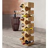 Vivaterra Mango Wood 12-Bottle Wine Rack - 7.5 sq x 34.5 H