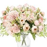 NAHUAA 2pcs Flor de Hortensia Artificial Flores Artificiales Ramo de Flores de Seda Boda Arreglos de Rosas Falsas Centros de Mesa para el Hogar Oficina Cocina Ramos de Boda