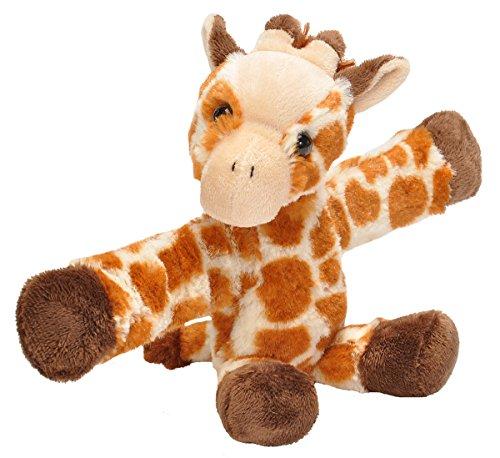 Wild Republic Huggers Giraffe Plush Toy, Slap Bracelet, Stuffed Animal, Kids Toys, 8 inches