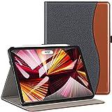 ZtotopHülles Hülle für iPad Pro 11 2021(3.Generation),Premium PU Leder Schutzhülle Hülle Cover für iPad Pro 2021 11 Zoll, Multiple Angles, mit Auto Schlaf/Wach Funktion, Denim Schwarz