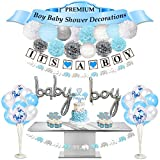 Baby Shower Decorations for Boy | Premium | Baby Shower Decorations for Boy Elephant Theme| Baby Boy Shower Decorations | Elephant Decor Baby Shower | Baby Elephant Baby Shower Decorations