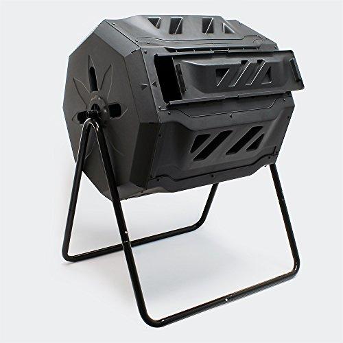 WilTec Compostador de Tambor de 160 litros Giratorio