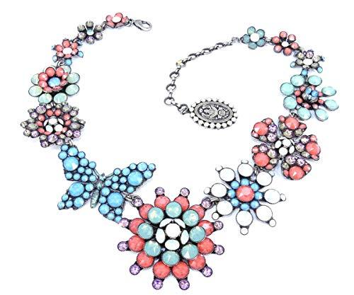 Konplott Halskette/Collier Lost Garden silver pastel/multi