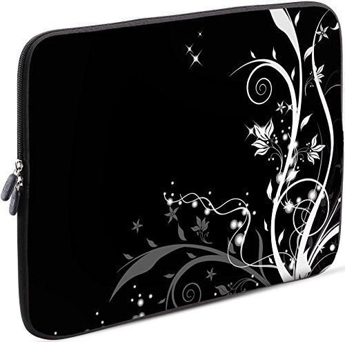 Sidorenko Tablet PC Tasche für 7-8 Zoll | Samsung Galaxy Tab 3 / Apple iPad Mini | Universal Schutzhülle | Hülle Sleeve Case Etui aus Neopren, Schwarz