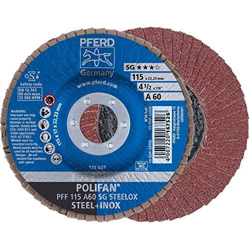 10 x PFERD POLIFAN-Fächerscheibe PFF 115 A 60 SG STEELOX| Art.: 67606115