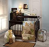 Disney Lion King Urban Jungle 4 Piece Nursery Crib Bedding Set, Tan/Aqua & Green/Tan/Aqua/Green/Ivory