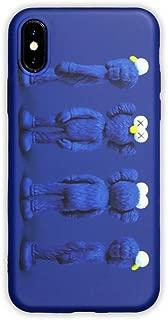 KAWS x Sesame Street BFF Companion Elmo Toy Design iPhone X Case Blue