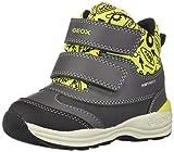 Geox Boy's NEWGULP 5 Waterproof Boots Dual Riptape, Grey/Lime, Snow, 26 M EU Little Kid (9 US)