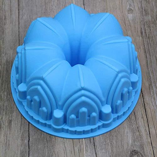 Oaisij Molde de Molde de Molde de la Torta de Silicona Molde de la sartén al Horno para el cumpleaños de Navidad Deco 22 x 8 cm