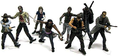 The Walking Dead Building Set 1 - alle 8 unterschiedliche Figuren - unter anderem Daryl Dixon