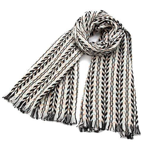 MYTJG Lady sjaal herfst en winter retro zwart roze visgraat patroon sjaal sjaal Lady warm en comfortabel warm