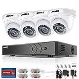 ANNKE Kit de Seguridad CCTV 8CH 5MP DVR sin Disco Duro de Vigilancia Onvif H.265 + 4 1080P Cámaras Sistema de Videovigilancia IP66 Impermeable - sin HDD