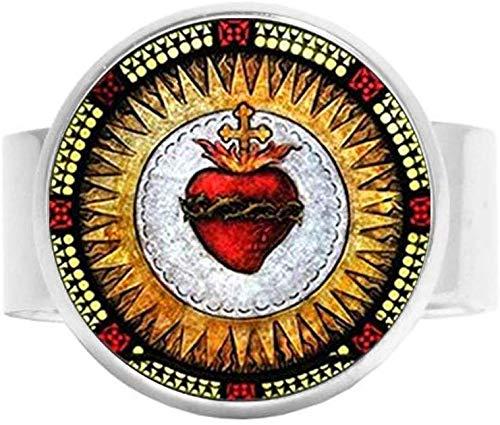 All Saints - Abalorio de iglesia católica, corazón sagrado de Jesús