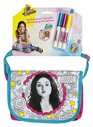 Undercover SORN2460 - Handtäschchen mit Schleife zum Bemalen, Disney Soy Luna inklusive 3 Fasermalern